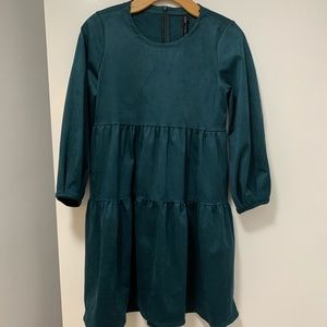 ZARA green mini dress NEW WITH TAGS size XS